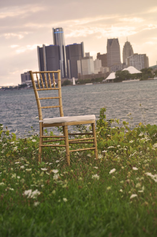 Gold Chiavari Chair Ivory Cushion Detroit Chiavari