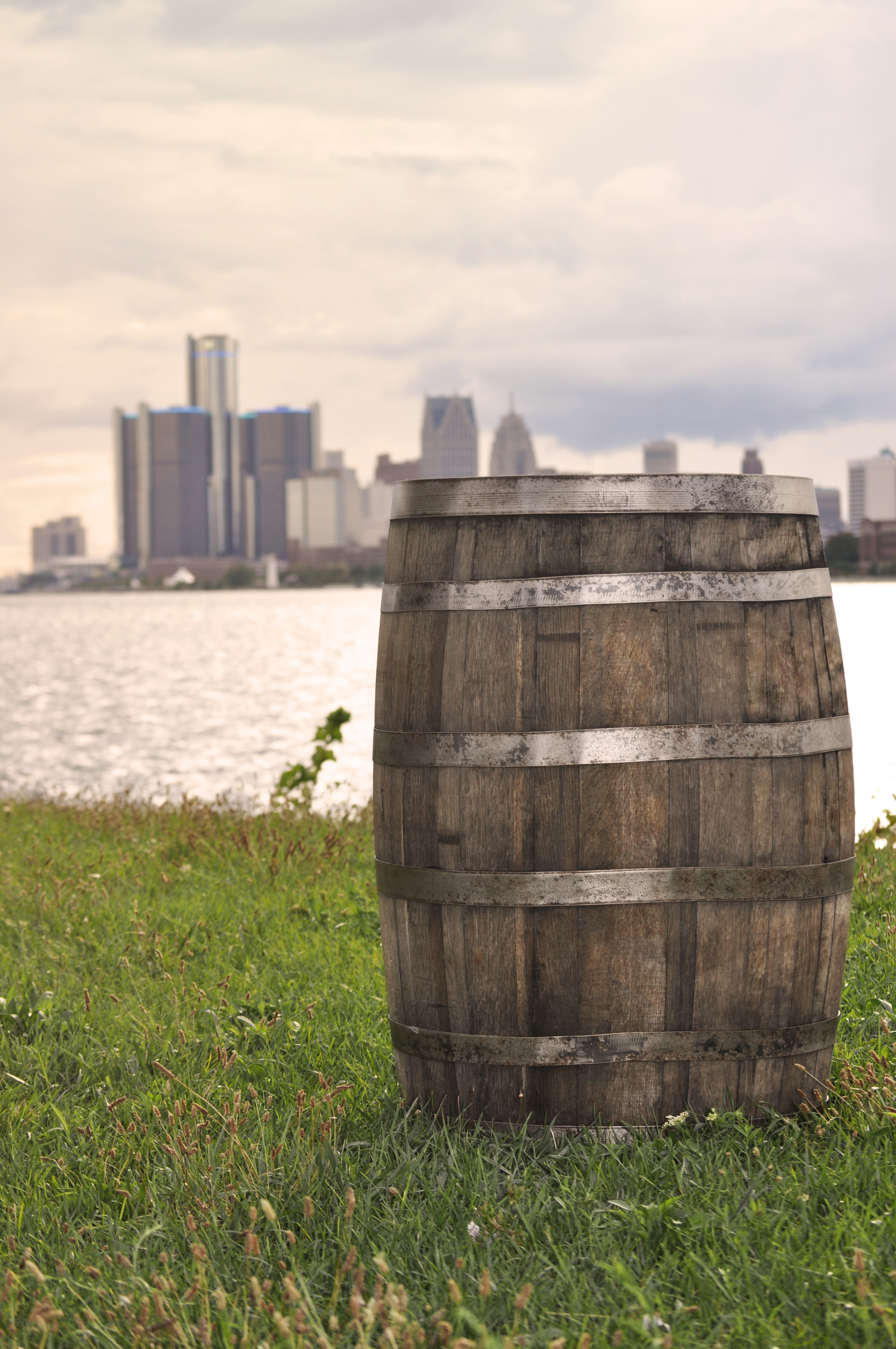 Detroit Chiavari Whiskey Barrel