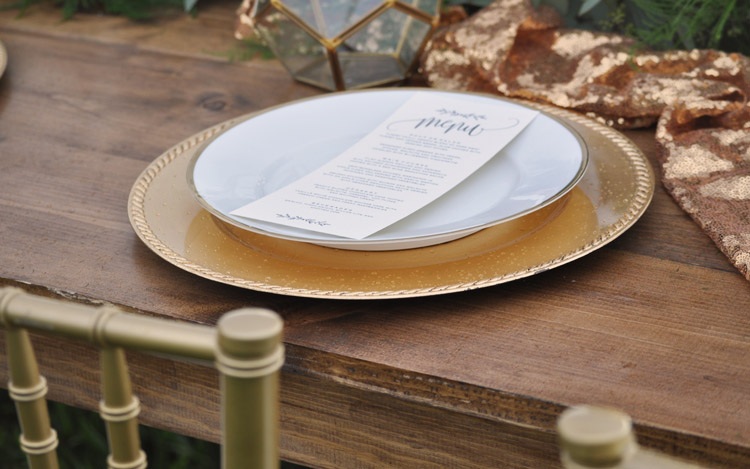Detroit Chiavari Farm Table Gold Charger Plate Belle Isle Wedding 4