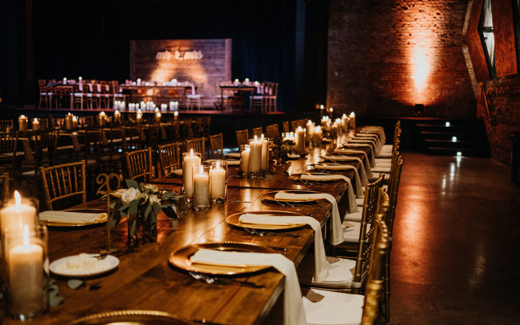 Detroit Chiavari Farm Table Gold Wedding The Garden Theater Amanda Lalama Photography 6