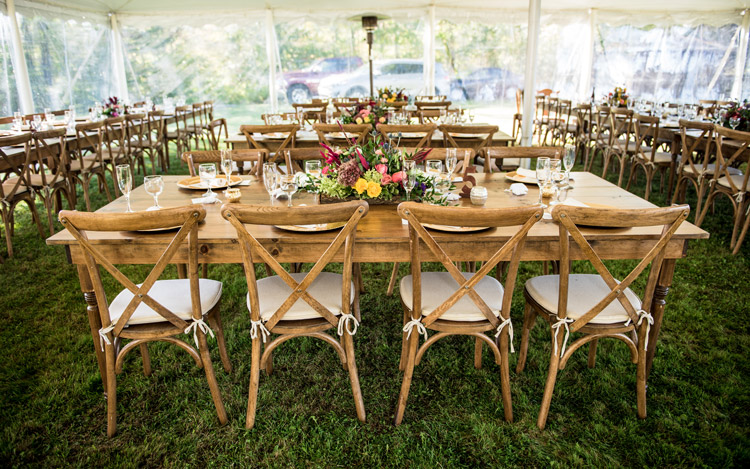 Detroit Chiavari Farm table Farm Chair Cross Back Chair Michael Terri Studios 9
