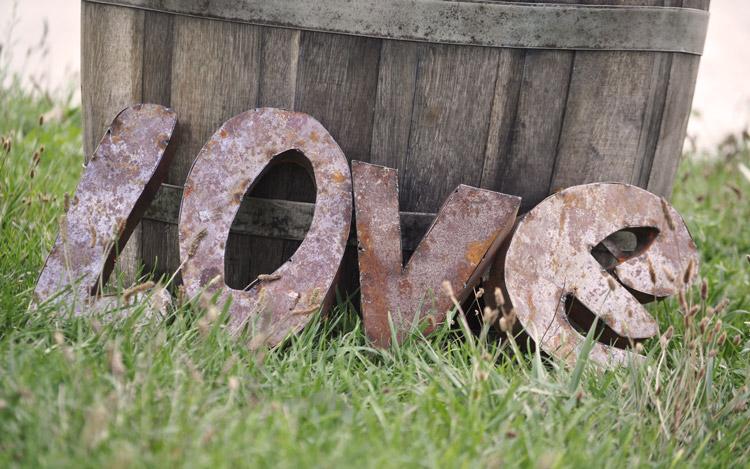 Detroit Chiavari Rusty LOVE Letters 3