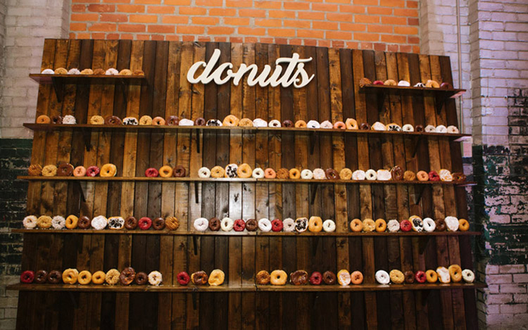 Donut Wall Detroit Chiavari Detroit Wedding 2
