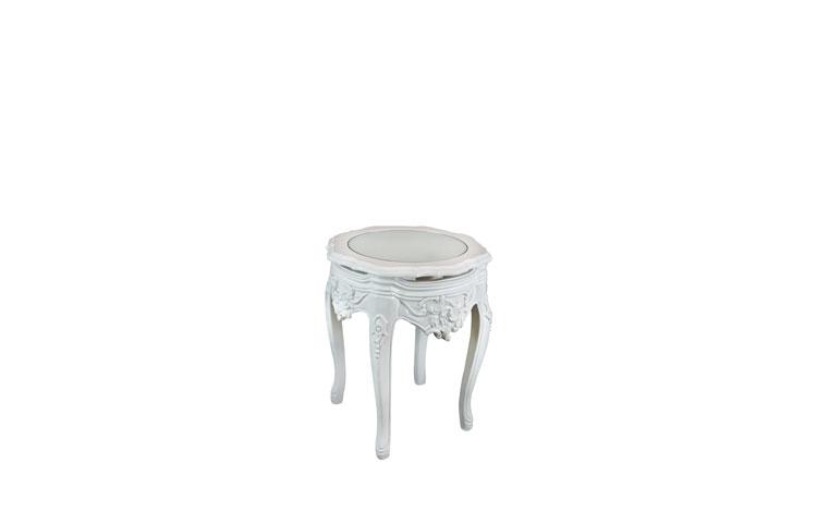 Duke White Side Table Detroit Chiavari