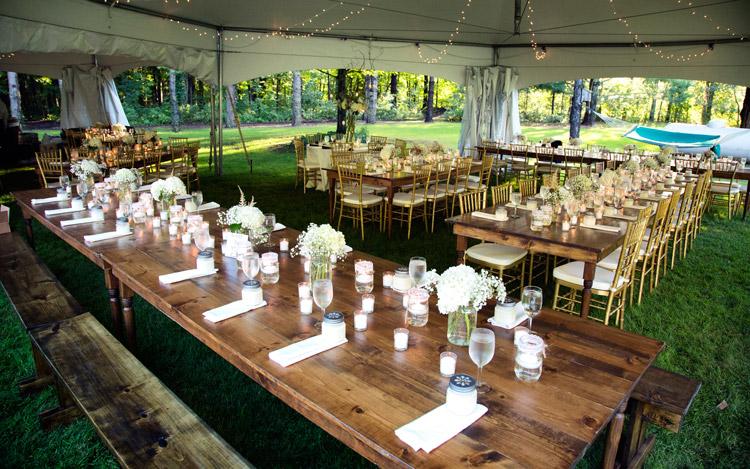 Outdoor Wedding Farm Table Gold Chiavari Chair Detroit Chiavari Mark Adrian Photography 8