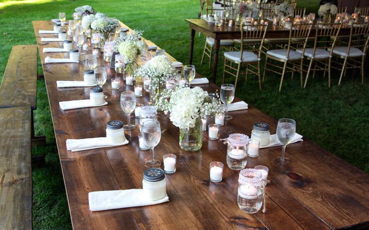 Outdoor Wedding Farm Table Gold Chiavari Chair Detroit Chiavari Mark Adrian Photography 9
