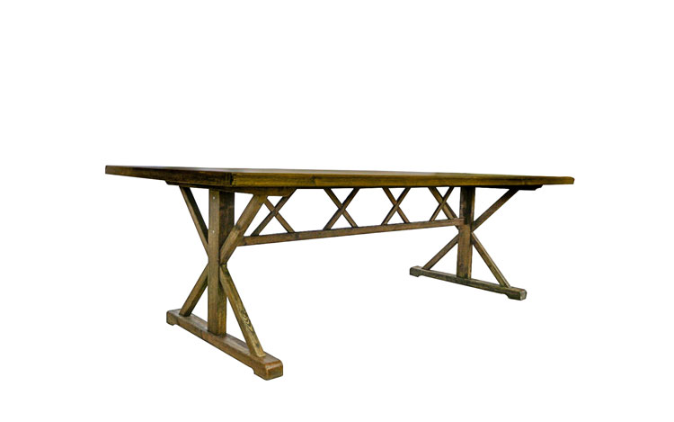 Premier 8ft Farm Table Detroit Chiavari Right