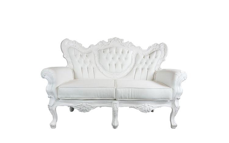 Victoria White Love Seat Detroit Chiavari